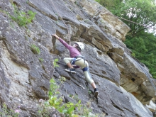 climbing at the martinet wall