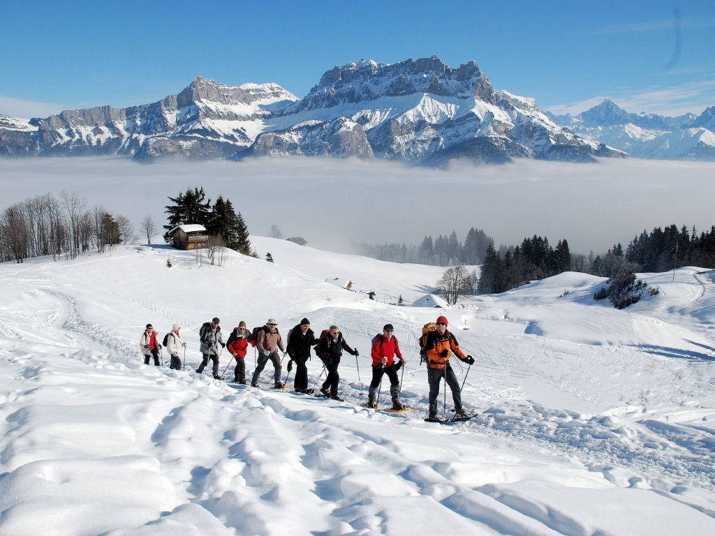 Image result for Snowshoeing megeve