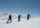 Ski touring at Grand Mont